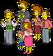 Crowd of Flanders Family Members Menu