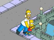 Homer and Bart Doing the Dance
