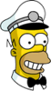 Ice Cream Man Homer Happy Icon