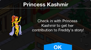 Princess Kashmir's contribution to Freddy's story