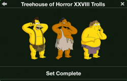 Treehouse of Horror XXVIII Trolls Collection