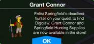 Grant Connor store message