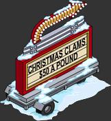 Christmas Clams 50 a Pound Menu
