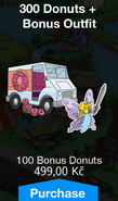Trackload of 300 Donuts & Bonus Outfit with Butterfly Maggie