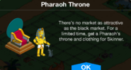 Pharaoh Throne Notification