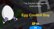 Egg Council Guy Unlock Screen