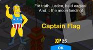 Captain Flag Unlock Screen