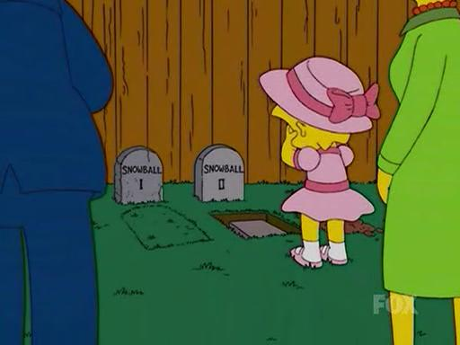 Image result for simpsons snowballs death