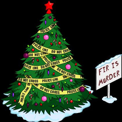 FileFir Is Murder Christmas Tree Snow Menu