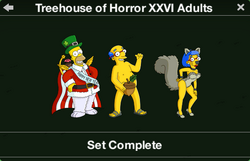 Treehouse of Horror XXVI Adults Character Collection