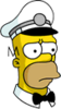Ice Cream Man Homer Sad Icon