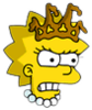 Little Miss Springfield Lisa Angry Icon