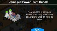 Damaged Power Plant Bundle notification