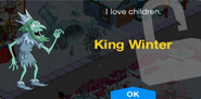 King Winter Unlock Screen