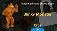 Blinky Monster Unlock Screen