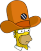 Camera Hat Homer Sad Icon
