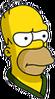 Sunday Morning Homer Annoyed Icon