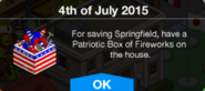 Patriotic Box of Fireworks Reward