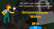 Groundskeeper Wilma Unlock Screen