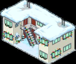 Christmas Krabappel Apartment Snow Menu