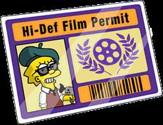 Film Permit Menu