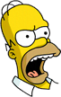 Homer Furious Icon