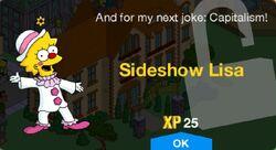Sideshow Lisa Unlock Screen