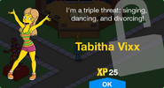 Tabitha Vixx Unlock Screen