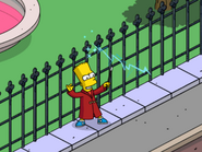Wizard Bart Exploiting Powers