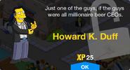 Howard K. Duff Unlock Screen