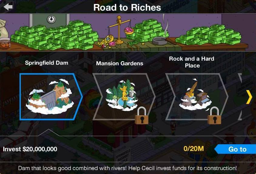 road to riches the simpsons tapped out wiki fandom powered by wikia - Quest Bergroer Sessel