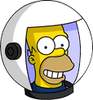 Deep Space Homer Happy Icon