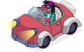 Poochie's animated job in his car