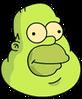 Gelatinous Homer Happy Icon