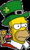 Holiday Homer Annoyed Icon