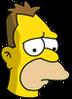 Young Grampa Simpson Sad Icon