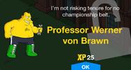 Professor Werner von Brawn unlock screen