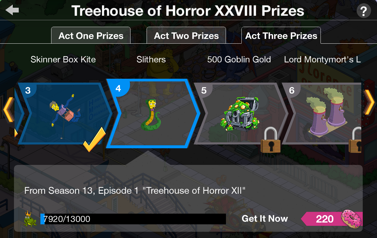 Treehouse of horror 2018 act 3 prizes for baby