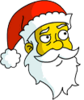 Santa Claus Thinking Icon