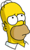 Homer Thoughtful Icon