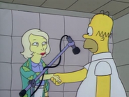 June Bellamy with Homer in the show