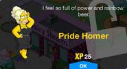 Pride Homer Unlock Screen