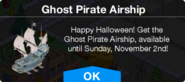 Ghost Pirate Airship message