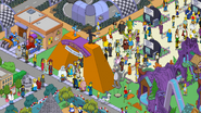 Itchy & Scratchy Land full of characters