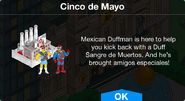 Cinco de Mayo notification with Duff Brewery