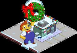 Christmas Lard Lad Donuts Snow Menu