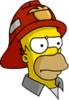 Fireman Homer Annoyed Icon