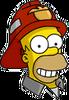 Fireman Homer Happy Icon