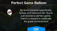 The Perfect Game Burns Balloon