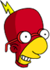 Radioactive Milhouse Happy Icon